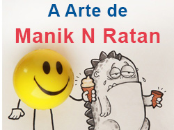 Manik N Ratan o artista do cartoon