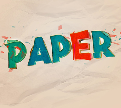 Tutorial Photoshop texto colorido e distorcido sobre papel