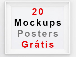 20 Mockups posters - outdoors e flyers - Grátis