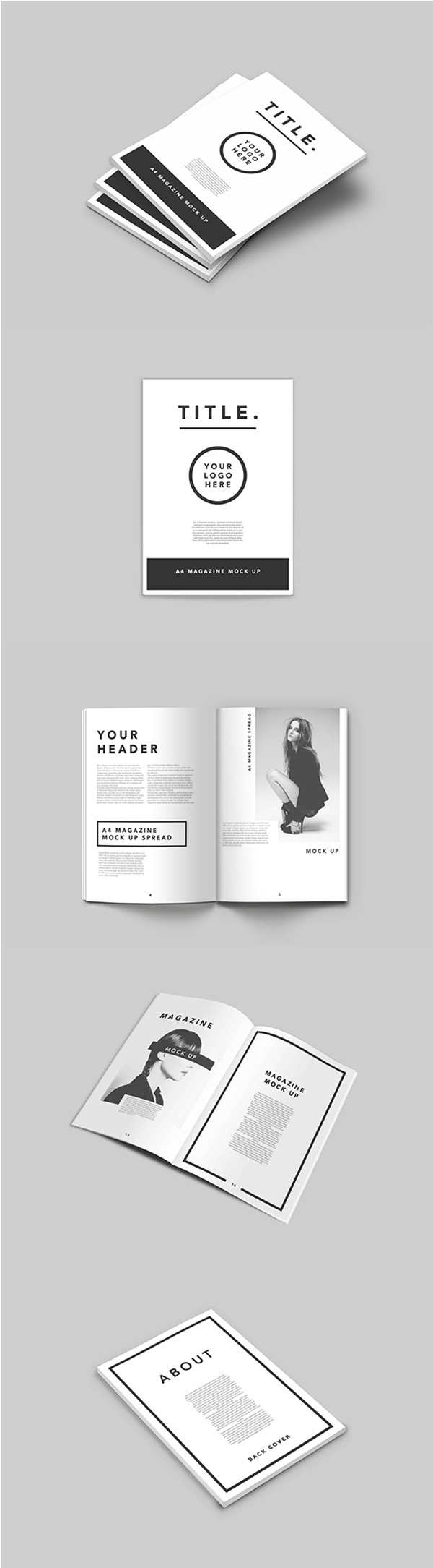 MAGAZINE PSD MOCK UP A4 TEMPLATE