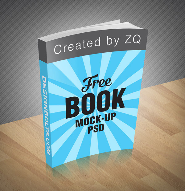 Free Book Mock Up Psd File