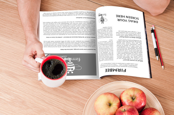 Template929 Magazine Reading Mockup